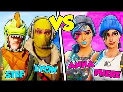 MASCHI contro FEMMINE su FORTNITE Battle Royale! - Lyon & Stef VS Anna & Phere (видео)