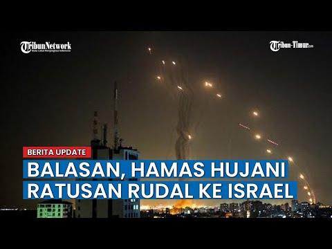 Serangan Balasan, Hamas Militan Palestina Luncurkan Ratusan Rudal ke Israel