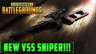 Welcome back to PUBG! in this very quick video we take a look at the new VSS Sniper rifle that is part of the latest monthly update. This sniper rifle is a kind of AR and Sniper hybrid which fires 9mm ammo and can be found in care packages or in very rare situations out in the word. We found this one over in the central ruins in between Georgopol and Rozhok. This weapon is sure to create some great montages in the future and is extremely versatile. it has 10 rounds in the magazine but I am sure you can get an extended or maybe and extended quick draw mag for it. the issues with it are that it is rare, and it only has a 10 round mag. Its recoil is very easy to control because it goes straight up so pulling down slightly with the mouse should give you accurate full auto fire. I do love this weapon I like it more than the SKS and the Kar 98. Its not as good as a fully devoted sniper rifle like the M24 or the AWM but it is a great little addition. pretty soon we should get the mantling update which has more performance bug fixes and motion captured melee animations which will be great!Patreon     ►  http://tinyurl.com/zc4s4psSubscribe ►http://tinyurl.com/hos4nb8Playlists    ► Building with mods - http://tinyurl.com/jxueues                     Subnautica - http://tinyurl.com/guxcpjy                     Building/Survival - http://tinyurl.com/zck6bx4Shop          ►   http://tinyurl.com/zju3sfmSpecial Thanks to these fine Patreon Donators!Malena - http://tinyurl.com/ztjgx8tNano912 - http://tinyurl.com/mmwq58sMyCart Mander n Murica' - http://tinyurl.com/h9szugyImmortalAbsol - https://tinyurl.com/gp5omyqaledjamesplays - http://tinyurl.com/m5ctvryTwitter ►http://tinyurl.com/zjyttcnFinal Render - The channel for building and survival game contentFor Business Enquirers only please email me here...finalrenderenquiries@gmail.com