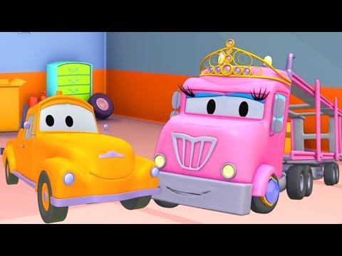 Oficina de Pintura do Tom: Flavy é princesa Charlotte  Desenhos animados de caminhão para crianças