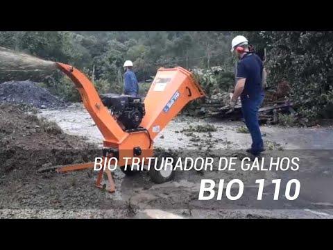 Triturador de galhos para o processamento de resíduos orgânicos Bio 110