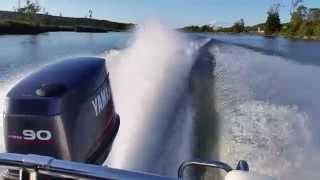 8. Yamaha outboard power 90 hp WOT  ( Wide Open Throttle )