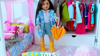 Video Baby Doll House toy play dolls closet wardrobe dress up American girl doll & dollhouse furniture MP3, 3GP, MP4, WEBM, AVI, FLV September 2017