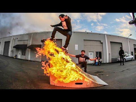 Highest Wallride on Electric Skateboard Challenge!_A héten feltöltött legjobb extrémsport videók