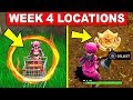 FORTNITE WEEK 4 CHALLENGES! – Flaming Hoops Location and Battle Star