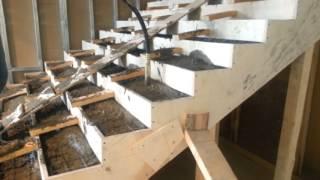 Устройство бетонной лестницы