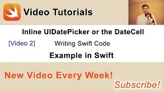 In this video we will add Swift code to make inline UIDatePicker work. You can find other videos from this series and a source code of this project in my blog post at: http://swiftdeveloperblog.com/inline-uidatepicker-or-datecell-example-in-swift/
