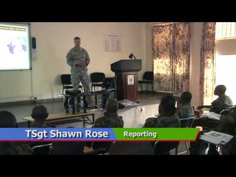 U.S. Soldiers assigned to the Combined Joint Task Force-Horn of Africa share best practices with Ugandan Soldiers on the seven-step Military Decision Making Process. Technical Sergeant Shawn Rose has the story.