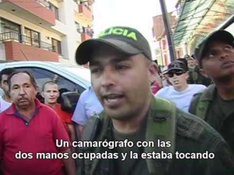 Camarógrafo de Acuario TV agredido por la Policía