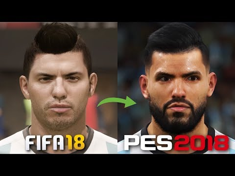 FIFA 18 Vs. PES 2018 | Famous Player Faces In Gameplay Comparison
