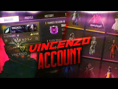 VINCENZO FREEFIRE ACCOUNT FULL REVIEW