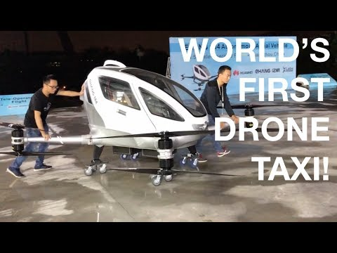 World s First Drone Taxi