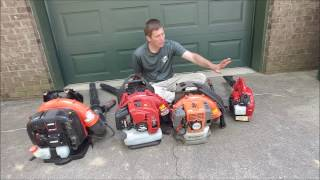 10. Discussion on buying a blower for lawn care - brand and size