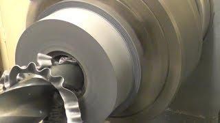 Turning some shocker spacersHaltwhistle  steam engines