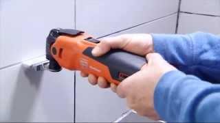 FEIN MultiMaster 350Q. Очистка межплиточных швов.