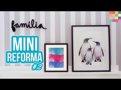 Imagens de papel de parede - DIY - Decoração do Corredor  Prateleira para quadros, Papel de parede adesivo e Quadros