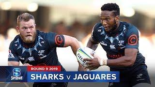 Sharks v Jaguares Rd.9 2019 Super rugby video highlights | Super Rugby Video Highlights