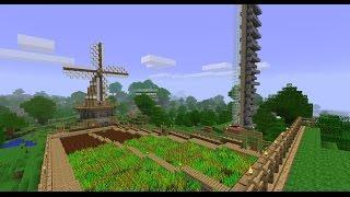 Minecraft: Hướng Dẫn Làm Máy Thu Hoạch Lúa Tự động (big Farm)