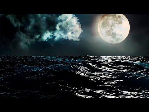 Imagens boa noite - Boa Noite!  Oceano e Lua