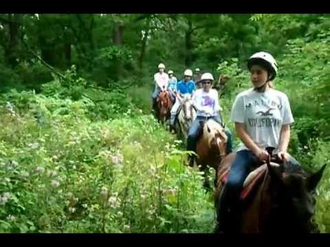 Horseback riding on the Shenandoah Trail in the Galena Territory