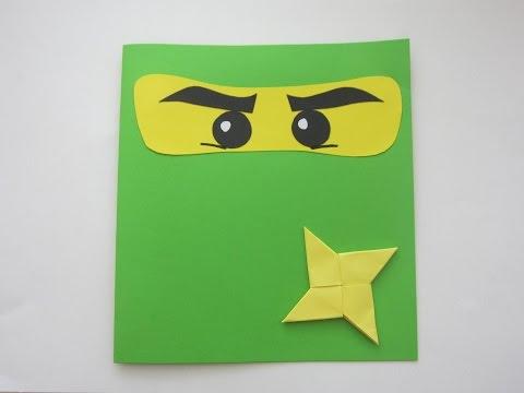 DIY : Открытка ЛЕГО НИНДЗЯГО Своими Руками для Мальчика *** Открытка на День Рождения LEGO NINJAGO