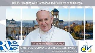 Francis in Georgia - Visit to the Patriarch Ilia II
