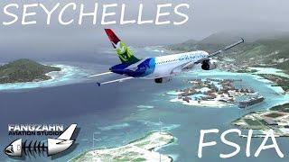 Landing at FSIA (Seychelles Intl. Airport) Landing Flight Path (for Google Earth) ...