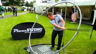 Budding golfer tries out PlaneSWING® for the first time at British Par 3 Championships 2012
