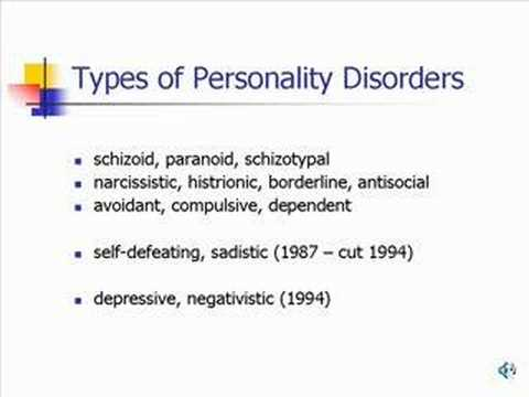 Personality Disorders (2)