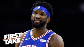 A healthy Joel Embiid would lead the 76ers past the Raptors next round - Stephen A. | First Take
