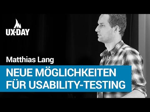 Schlankes Eye-Tracking: neue Möglichkeiten für Usability-Testing – Matthias Lang