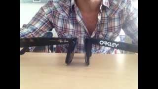 ray ban sunglasses vs. oakley  comparing ray ban wayfarers vs. oakley frogskins sunglasses
