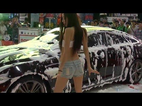 Hot Asian Girls Car Wash Dance