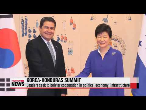 Leaders of Korea, Honduras seek to bolster cooperation in politics, economy, inf
