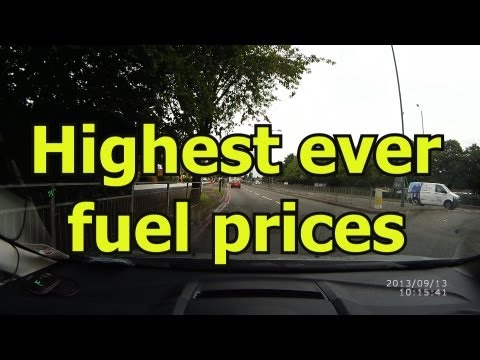 Highest ever fuel price in UK - 567p a litre!