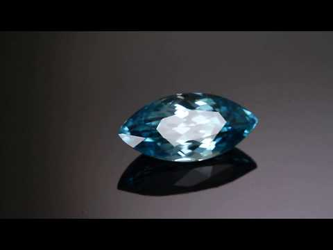 Marquise Blue Zircon 5.16 Carats