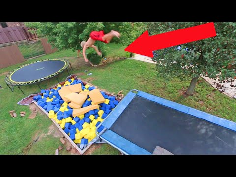 INSANE BACKYARD FOAM PIT!!