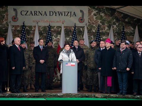 Beata Szydło powitała w Polsce amerykańskich żołnierzy