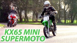 8. Mini Supermoto Action! Kawasaki KX 65 - Road Legal - 8K Special