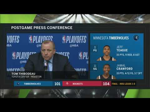 Tom Thibodeau following Timberwolves' Game 1 loss to Rockets