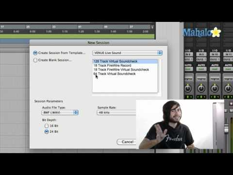 Creating a Template – Pro Tools 9