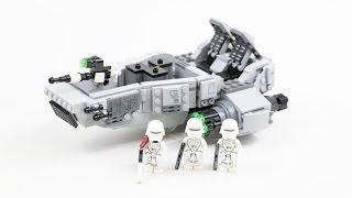 LEGO Star Wars First Order Snowspeeder (Timelapse & Review) - Set 75100