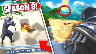 *NEW* BURIED TREASURE CHEST *FOUND* AFTER TREASURE MAP ITEM REVEALS FIRST LOCATION! SEASON 8 UPDATE!