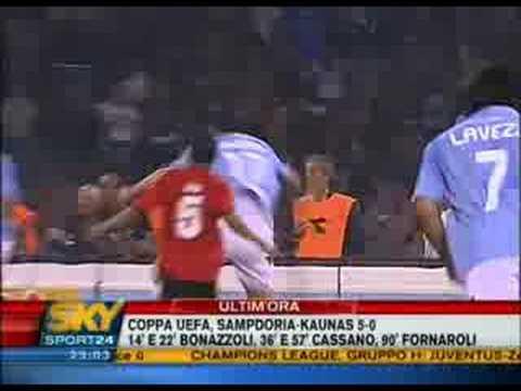 Copa de la UEFA, Napoli vs Benfica 2008