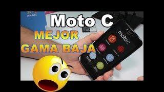 """Mejor Android GAMA BAJA 2017 al 2018. Motorola Moto C Caracteristicas Español. MEJORES ANDROID por MENOS DE 100$: https://goo.gl/juBiY3 Moto C Caracteristicas : Pantalla LCD TN de 5pulgadas.Cuenta con procesador Quad Core MT6580m.Velocidad de procesador de 1.3GHz.Sistema operativo Android 7.0.Tamaño de pantalla: 5"""".Su memoria interna es de 8GB.Cuenta con ranura para memoria externa (memoria no incluida).Memoria RAM de 1GB.Con cámara frontal de 2 Mpx y posterior de 5Mpx.Conectividad WiFi+3G.Conexión Bluetooth.Suscríbete al Canal: https://goo.gl/EILJiWSígueme en mis Redes sociales:https://www.facebook.com/ComoConfigurarPagehttps://twitter.com/Comoconfigurarhttps://instagram.com/comoconfigurar/"""