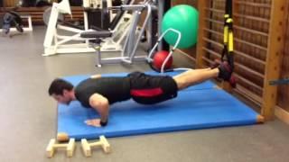 Eine tolle Übung für Ganzkörperstabilität,Brust,Bauch,Rücken.