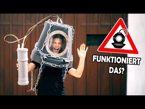 Wir bauen eine TAUCHERGLOCKE aus einem BLUMENTOPF (LEBENSGEFAHR - nicht nachmachen!)
