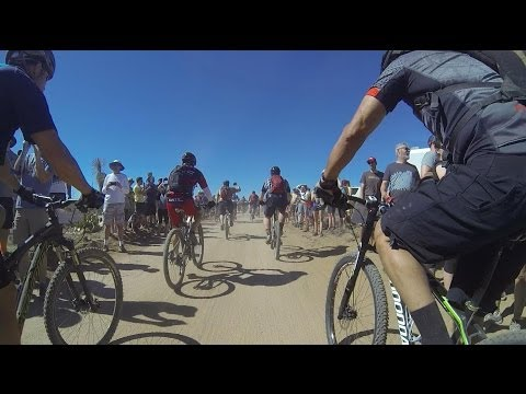 First lap, 2014 24hrs in the Old Pueblo MTB race, sped up 2x
