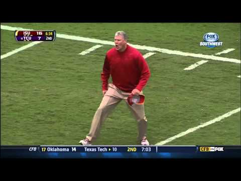 Paul Rhoads - Paul Rhoads gets mad at the refs despite the game being fixed in ISU's favor. This Big 12 officiating crew rules this pass complete before realizing that the...