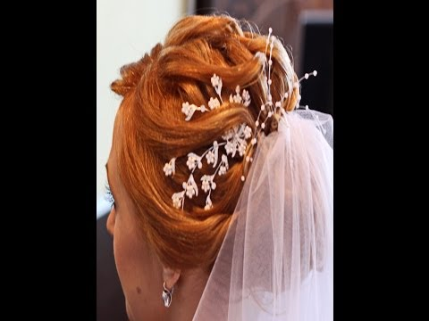 youtube свадебные прически видео